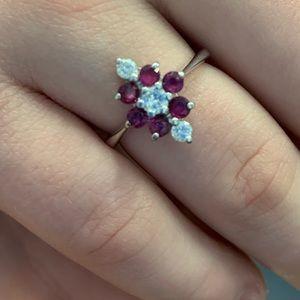 Jewelry - 14K white gold ruby diamond ring heat treatment